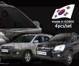 AutoClover Korea for KIA Sportage 2004 2005 2006 2007 2008 2009 Smoke Window Vent Sun Visors Rain Guards Out channel Visor a080