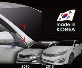 AutoClover Korea for KIA Optima 2010 2011 2012 2013 2014 2015 Smoke Window Vent Sun Visors Rain Guards Out channel Visor a121