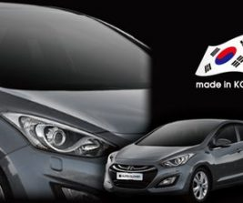 AutoClover Korea for Hyundai Elantra GT i30 HB  2011 2012 2013 2014 2015 2016 Smoke Window Vent Sun Visors Rain Guards Out channel Visor a138