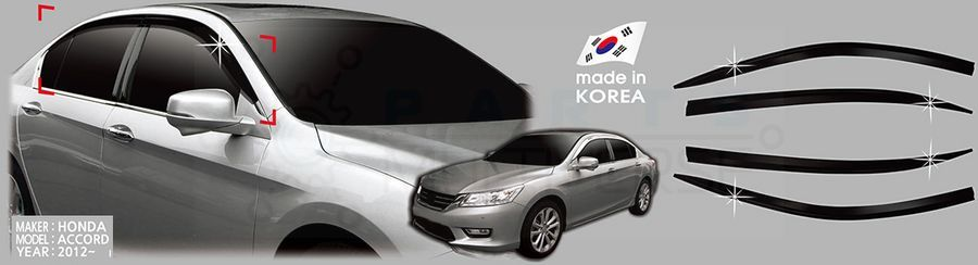 AutoClover Korea for Honda Accord 4door sedan 2012 2013 2014 Smoke Window  Vent Sun Visors Rain 5c2fd7f197e