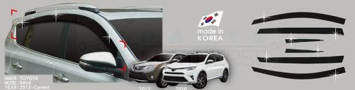 AutoClover Korea for Toyota RAV4 2012 2013 2014 2015 2016 2017 Smoke Window Vent Sun Visors Rain Guards Out channel Visor a176