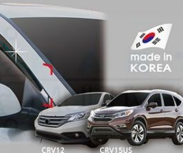 AutoClover Korea for Honda CRV 2012 2013 2014 2015 2016 Smoke Window Vent Sun Visors Rain Guards Out channel Visor a177