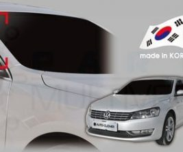 AutoClover Korea for VW Passat 2011 2012 2013 2014 2015 2016 Smoke Window Vent Sun Visors Rain Guards Out channel Visor a189