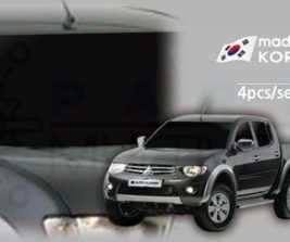 AutoClover Korea for Mitsubishi L200 Triton 2006 2007 2008 2009 2010 2011 2012 2013 2014 2015 2016 Smoke Window Vent Sun Visors Rain Guards Out channel Visor a194