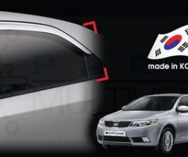 AutoClover Korea for Kia Cerato 2007 2008 2009 2010 2011 2012 2013 Chrome Window Vent Sun Visors Rain Guards Out channel Visor a463