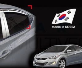 AutoClover Korea for Hyundai Elantra AvanteMD 2010 2011 2012 2013 2014 Chrome Window Vent Sun Visors Rain Guards Out channel Visor a481