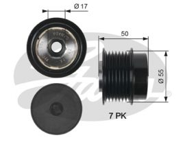 GATES Alternator Pulley: OAP7017
