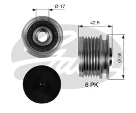 GATES Alternator Pulley: OAP7106