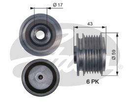 GATES Alternator Pulley: OAP7112