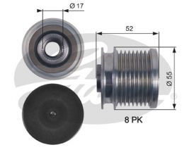 GATES Alternator Pulley: OAP7123