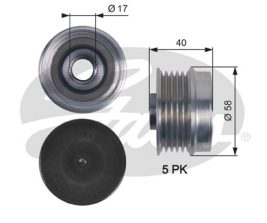 GATES Alternator Pulley: OAP7132