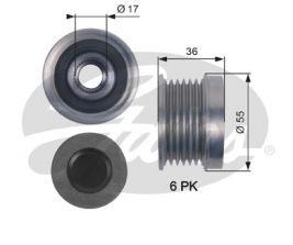 GATES Alternator Pulley: OAP7138