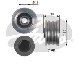 GATES Alternator Pulley: OAP7149