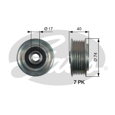 GATES Alternator Pulley: OAP7159
