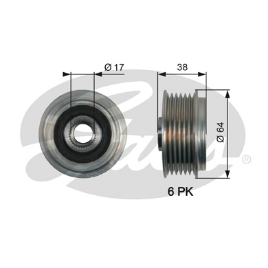 GATES Alternator Pulley: OAP7165