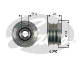 GATES Alternator Pulley: OAP7167