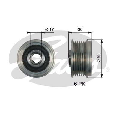 GATES Alternator Pulley: OAP7168