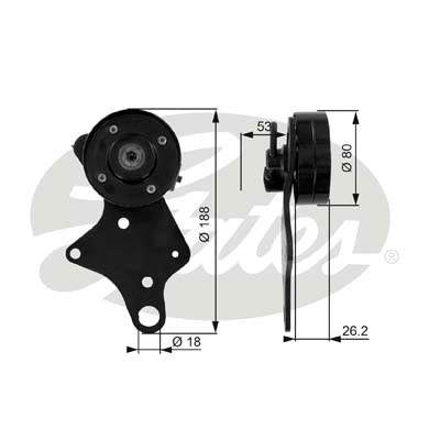 GATES Tensioner Pulley: T36024