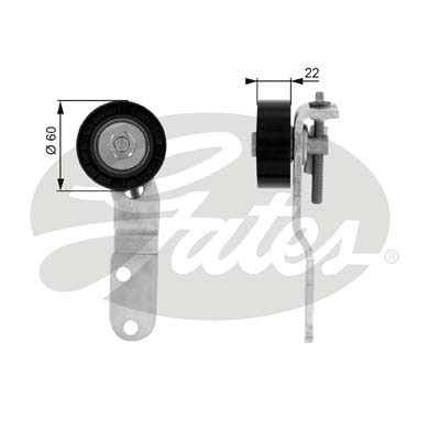 GATES Tensioner Pulley: T36074