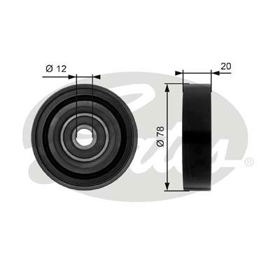 GATES Tensioner Pulley: T36086
