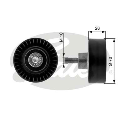 GATES Tensioner Pulley: T36163
