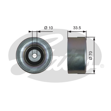 GATES Tensioner Pulley: T36173