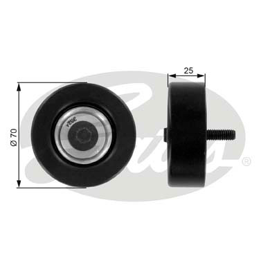 GATES Tensioner Pulley: T36175