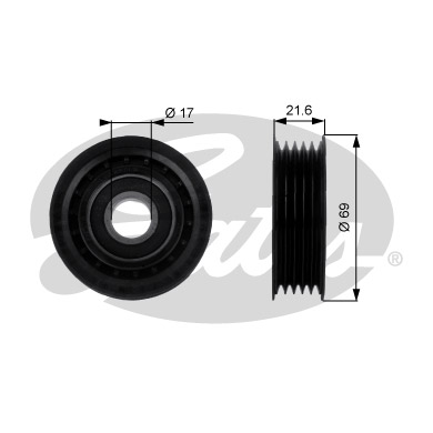GATES Tensioner Pulley: T36189