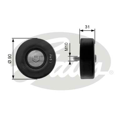GATES Tensioner Pulley: T36197