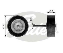 GATES Tensioner Pulley: T36204