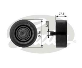 GATES Tensioner Pulley: T36206