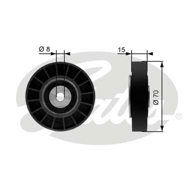 GATES Tensioner Pulley: T36214