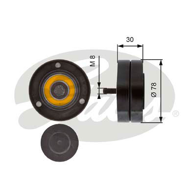 GATES Tensioner Pulley: T36236
