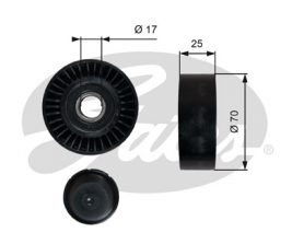 GATES Tensioner Pulley: T36249