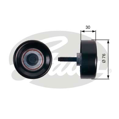 GATES Tensioner Pulley: T36250