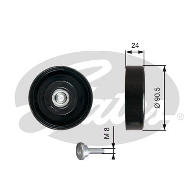 GATES Tensioner Pulley: T36251