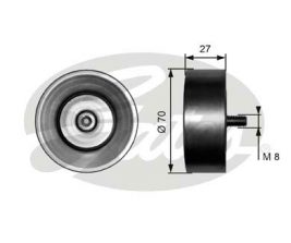 GATES Tensioner Pulley: T36294