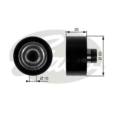 GATES Tensioner Pulley: T36295