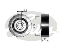 GATES Tensioner Pulley: T36297