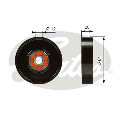 GATES Tensioner Pulley: T36321