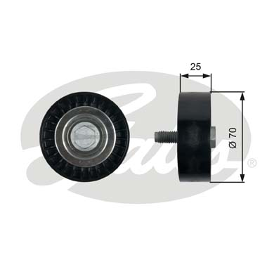 GATES Tensioner Pulley: T36323