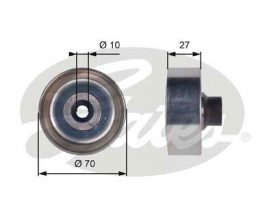 GATES Tensioner Pulley: T36361