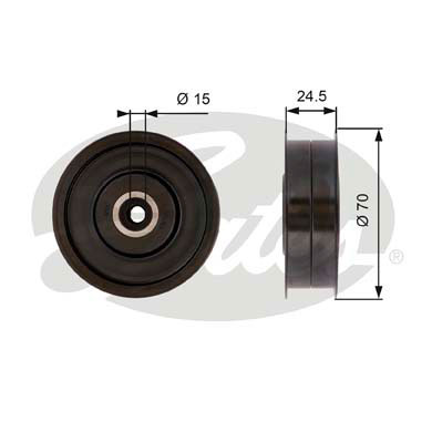 GATES Tensioner Pulley: T36372