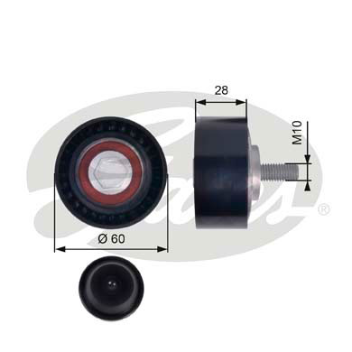 GATES Tensioner Pulley: T36384