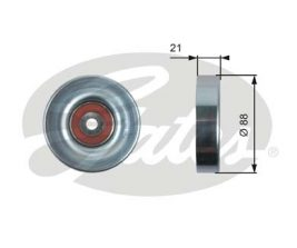 GATES Tensioner Pulley: T36395