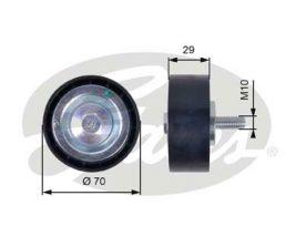 GATES Tensioner Pulley: T36396