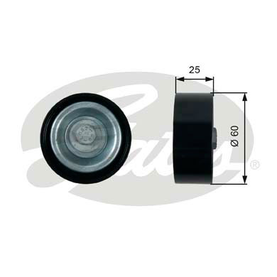 GATES Tensioner Pulley: T36413