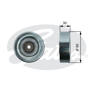 GATES Tensioner Pulley: T36415