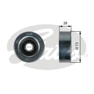 GATES Tensioner Pulley: T36418
