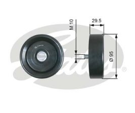 GATES Tensioner Pulley: T36419